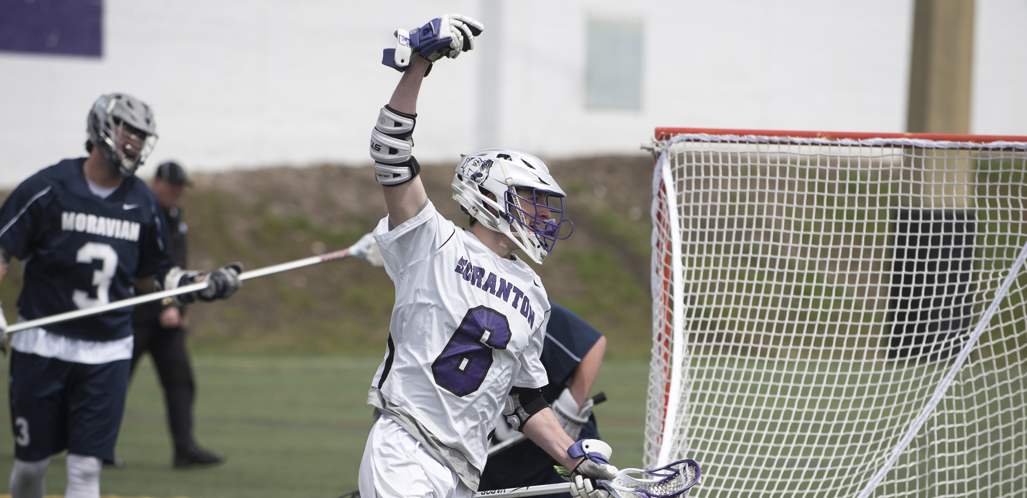Sophomore attackman Connor Kirkwood scored three times on Wednesday, giving him 42 for the season, two shy of matching the Royals' single-season record.