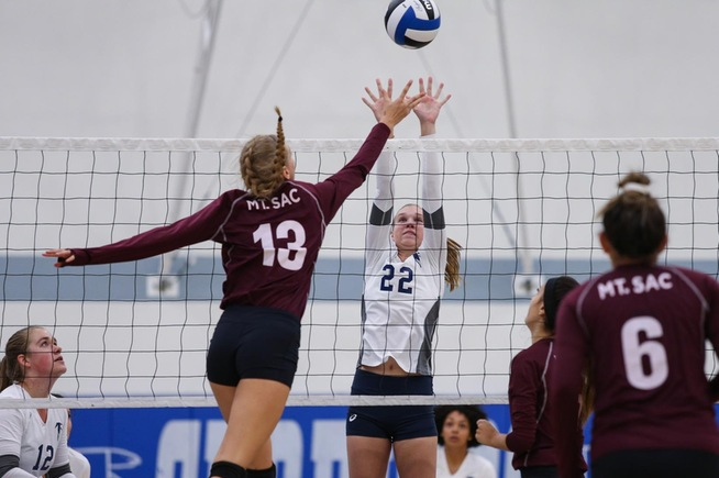 Madison Wybenga and the Falcons were swept by Mt. SAC in their final home match of the season
