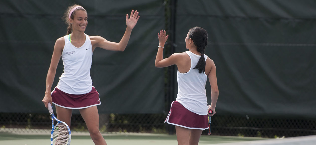 Women's Tennis Battles Past Suffolk, 5-4, For Sixth-Consecutive Win