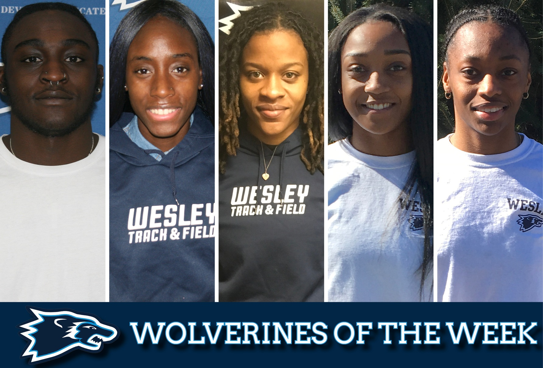 Wesley's Five Indoor All-Americans named Wolverines of the Week