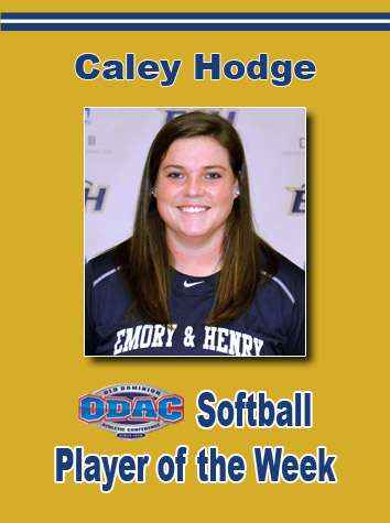 Caley Hodge Named ODAC Softball Player Of The Week