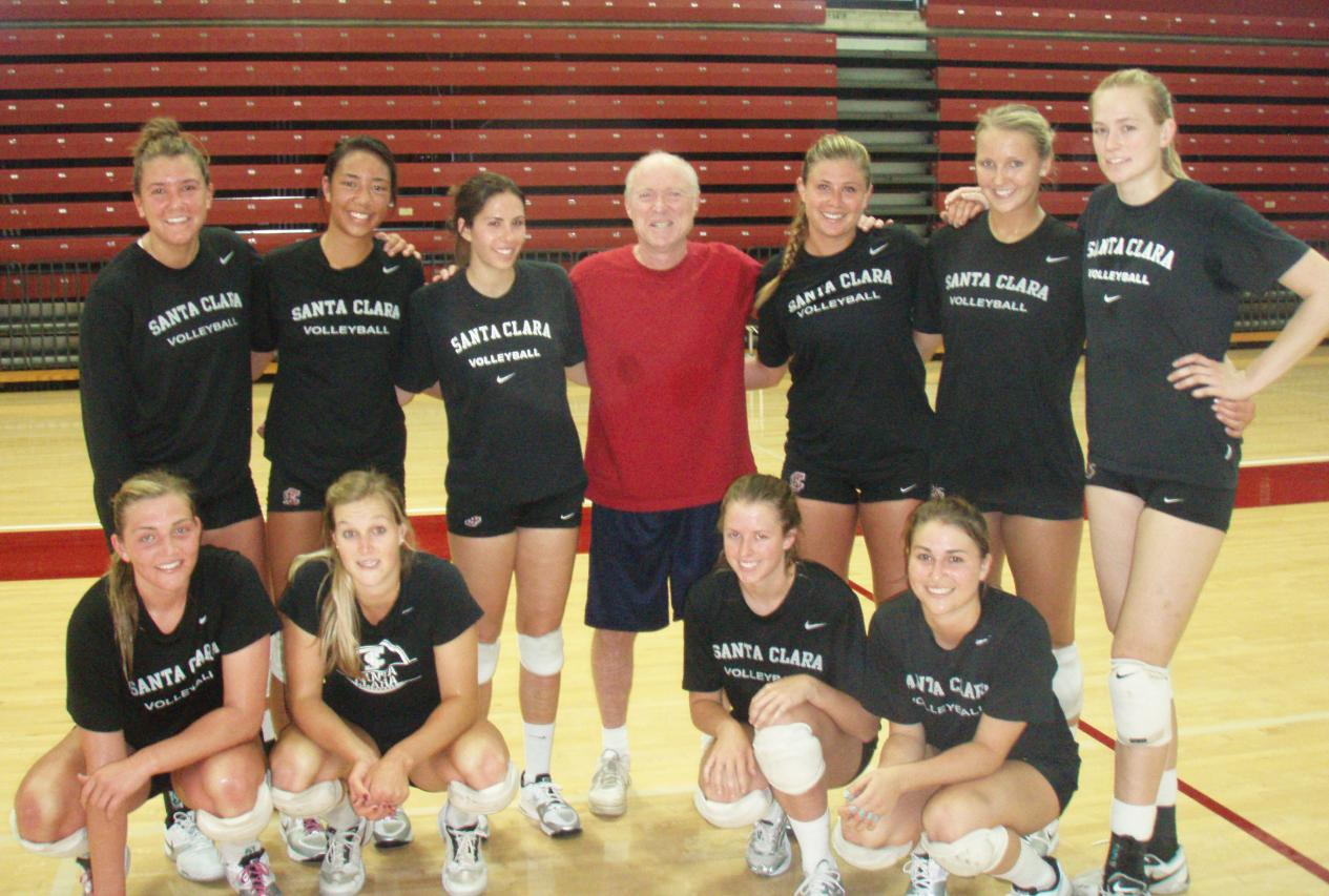 Santa Clara Athletic Director Dan Coonan Makes Good On Promise, Joins Volleyball Team in First Spring Practice