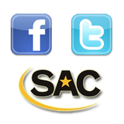 Follow SAC Athletics on Facebook and Twitter