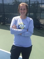 Moa Lindstrom win the conference singles championship
