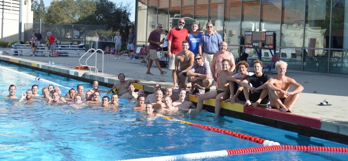 Current and former Stags at the 2017 Men's Water Polo Alumni Game