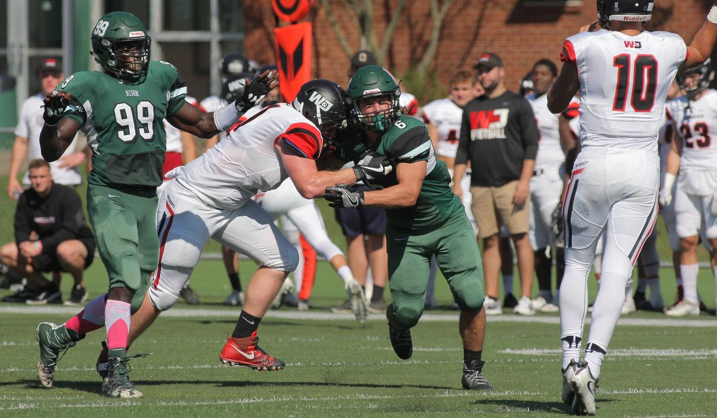 Bison toppled by No. 15 W&J, 49-14