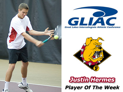 Justin Hermes Receives GLIAC Weekly Award