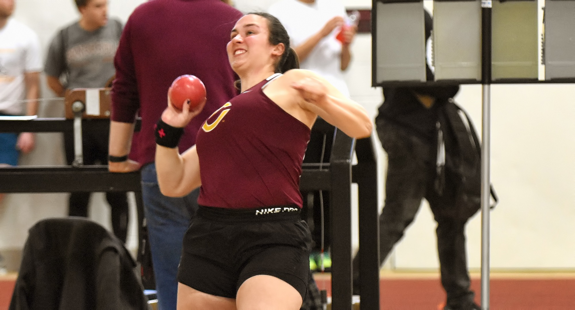 Sophomore Allyson Kangas was one of three Cobber throwers who all posted MIAC Top 10 marks in the shot put at the UND Open.