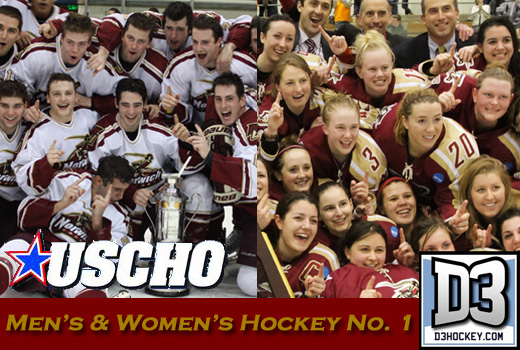 Hockey: Men and Women's Hockey ranked No. 1 in national polls