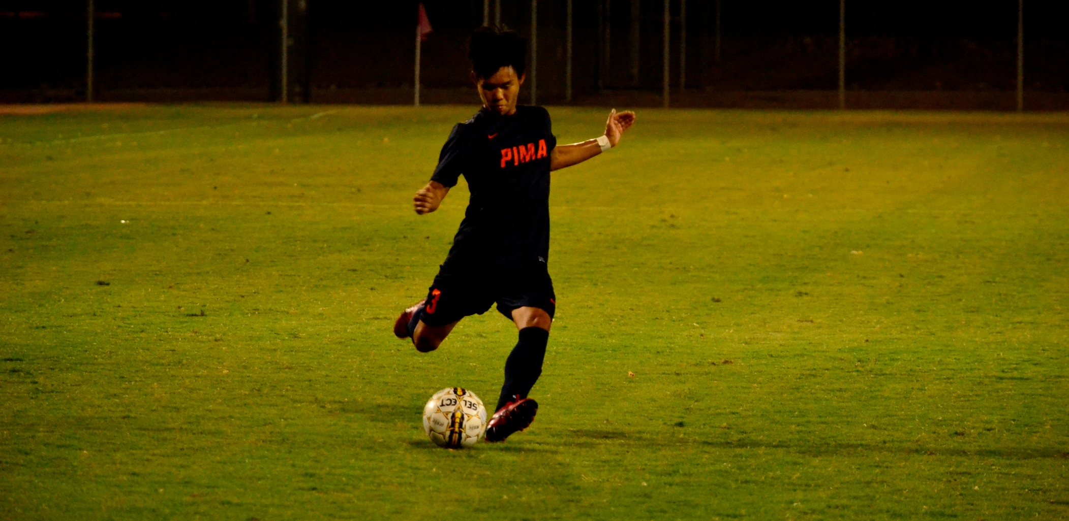 Sophomore Tatsuma Yuki put the Aztecs on the score board in the 25th minute as the Aztecs beat Paradise Valley Community College 2-0. The Aztecs are 8-1-2 overall. Photo by Ben Carbajal