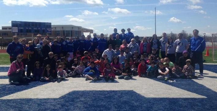 CUW Soccer Teams run clinic for students of St. Martini Lutheran School