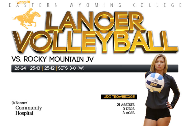 Eastern Wyoming College Lancer Volleyball team vs. Rocky Mountain JV