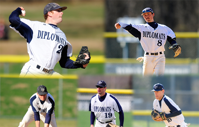 Five Diplomats Named All-Conference