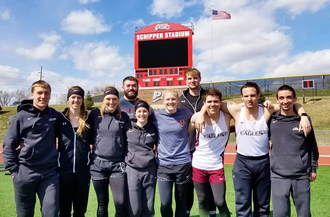 Faith Track and Field debuts with a strong showing at Central College Invitational