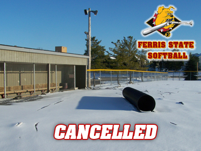 Snow Forces Cancellation of Sunday's Softball Doubleheader