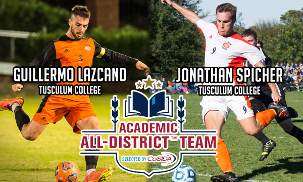 Lazcano, Spicher garner Academic All-District honors