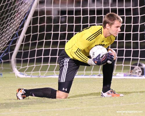David Niepel played a stellar game in goal to keep the Division I Bulls scoreless.
