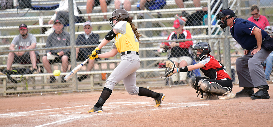 Alexis Boledovic had six hits in the two games, including her first career grand slam, a double and triple, with five RBIs (Photo Courtesy of Lexi Ripperger)