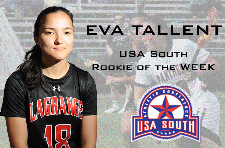 Lacrosse: Eva Tallent named USA South Rookie of the Week