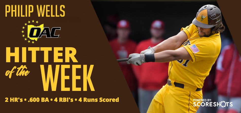 Wells Garners OAC Hitter of the Week Award
