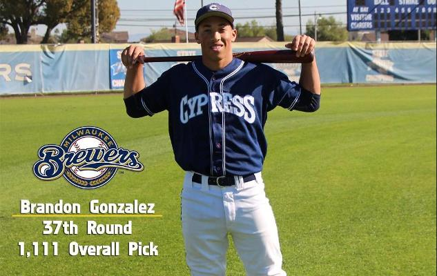 Four Chargers Selected in 2015 MLB Draft
