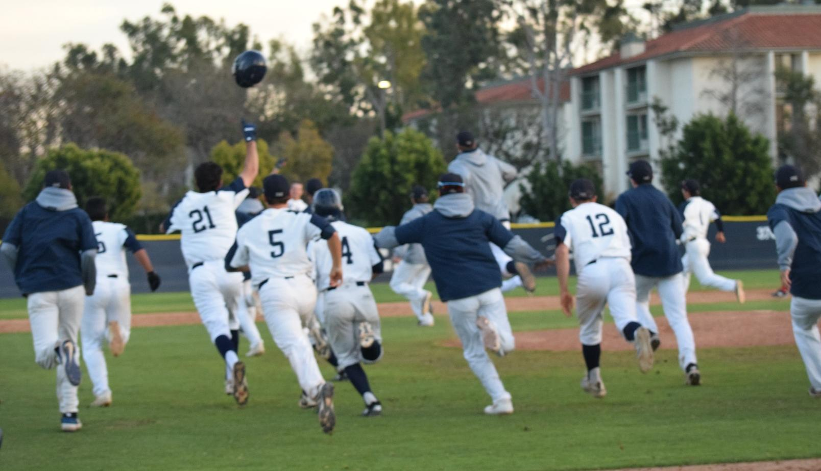 Baseball team walks off against Palomar in 12 innings