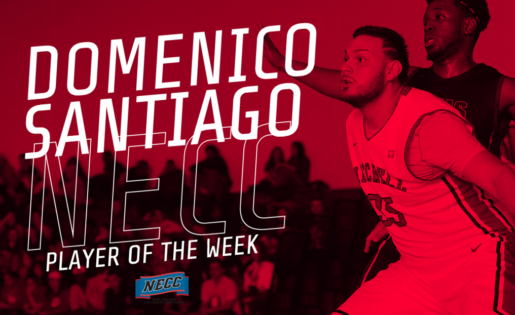 MBB's Santiago Repeats as NECC Player of the Week