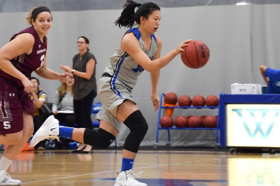 Alyssa Cho finished in double-figures on offense for the fifth time in her last six games (Julia Monaco).