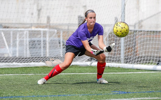 Junior goalkeeper Krissy Welsh has a 0.93 goals-against average after three games.
