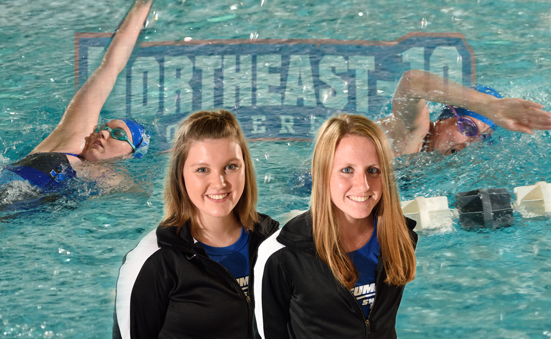 Morgan and Quirk Named NE-10 Swimmer and Rookie of the Week