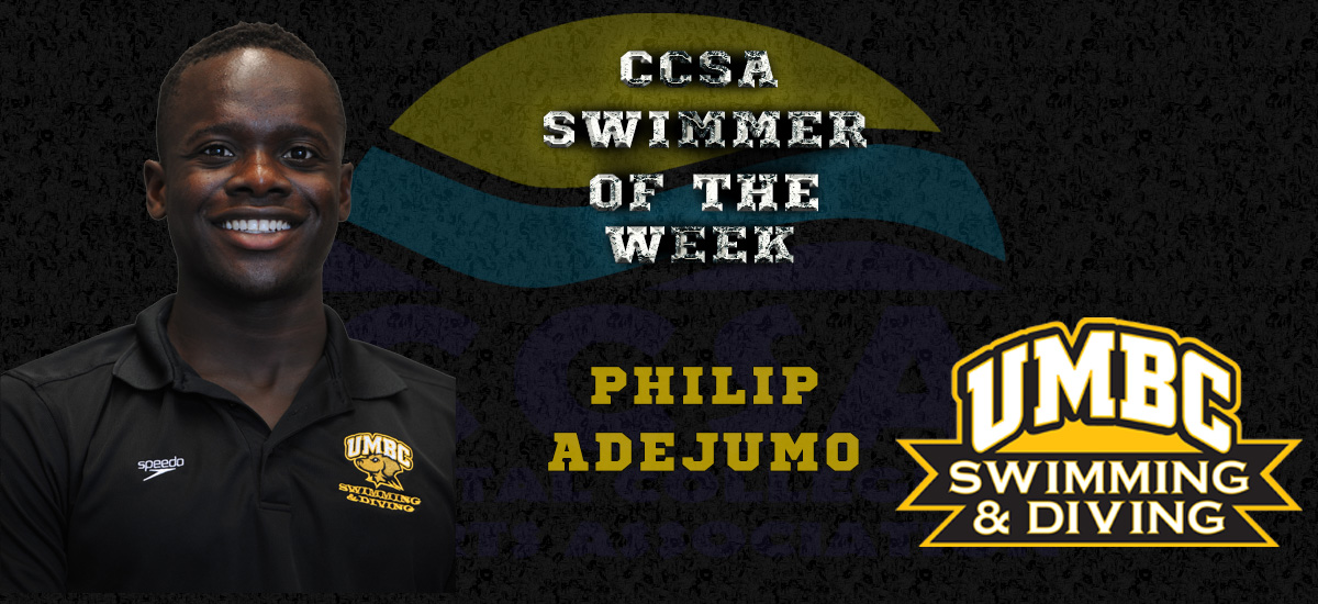 Adejumo Named CCSA Swimmer of the Week