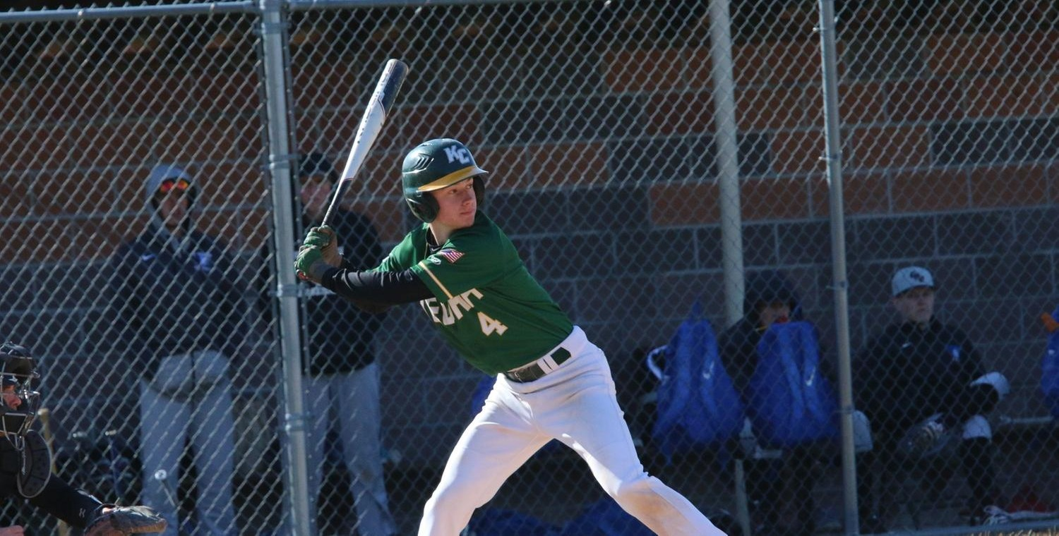 Brooks Vertoske (4) hit a solo home run in both games on Saturday