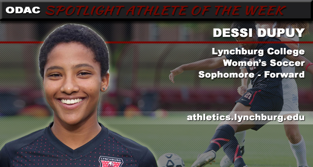 Sophomore Dupuy Spotlighted By ODAC