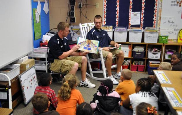 Coker Student-Athletes Participate in American Education Week