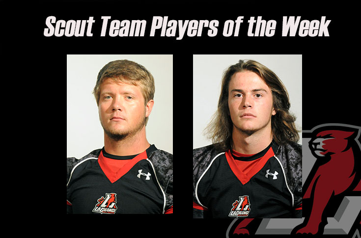 Football: Guy Wegienka, Josh Preston selected as Scout Team Players of the Week