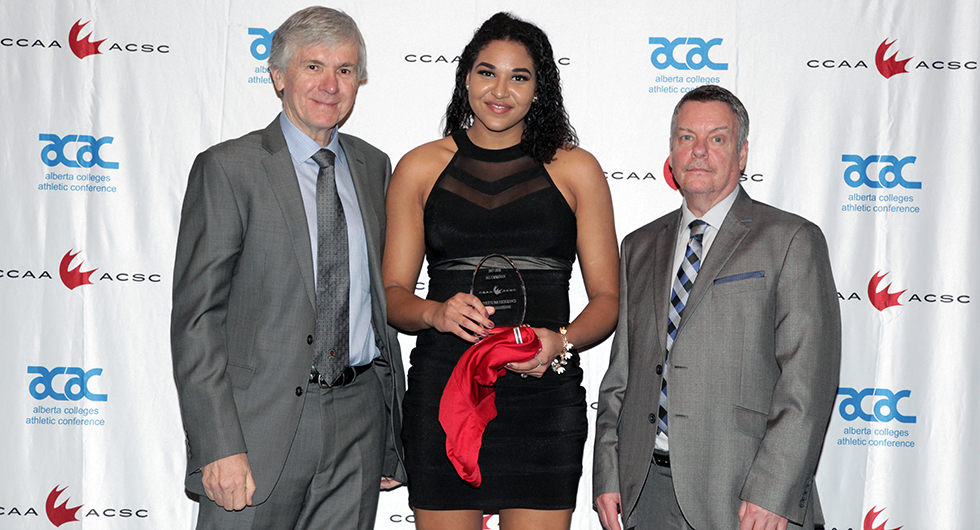HAWKS BREANNA GOLDING RECEIVES HER ALL-CANADIAN AWARD