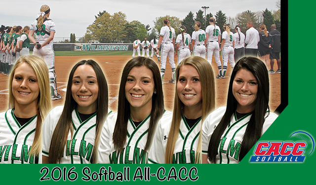 Five Wilmington Softball Players Selected to 2016 CACC Softball All-Conference Teams