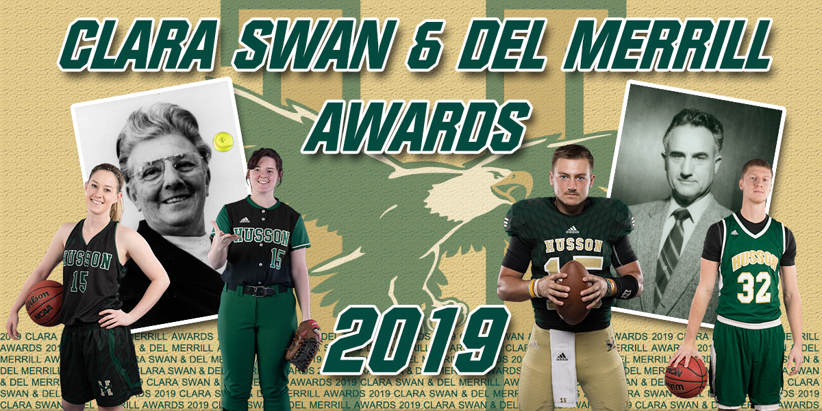 Kenzie Worcester, Jen Jones, Cory Brandon and Justin Martin Named 2018-19 Husson Athletes of the Year