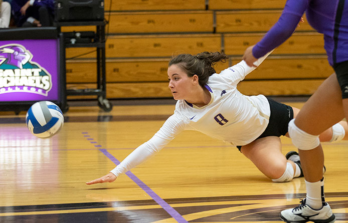 Women's Volleyball Takes Merrimack to Five Sets Before Losing 3-2 Decision