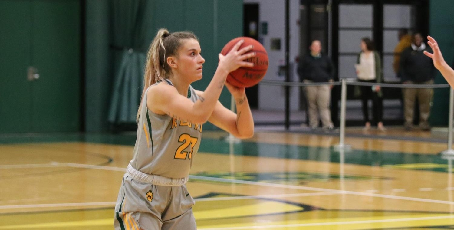 Riley Record (23) hit four threes in the game to lead Keuka College with 17 points