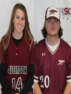 Samantha Dibble and Timothy Gaudioso Named Jefferson Co-Athletes of the Week