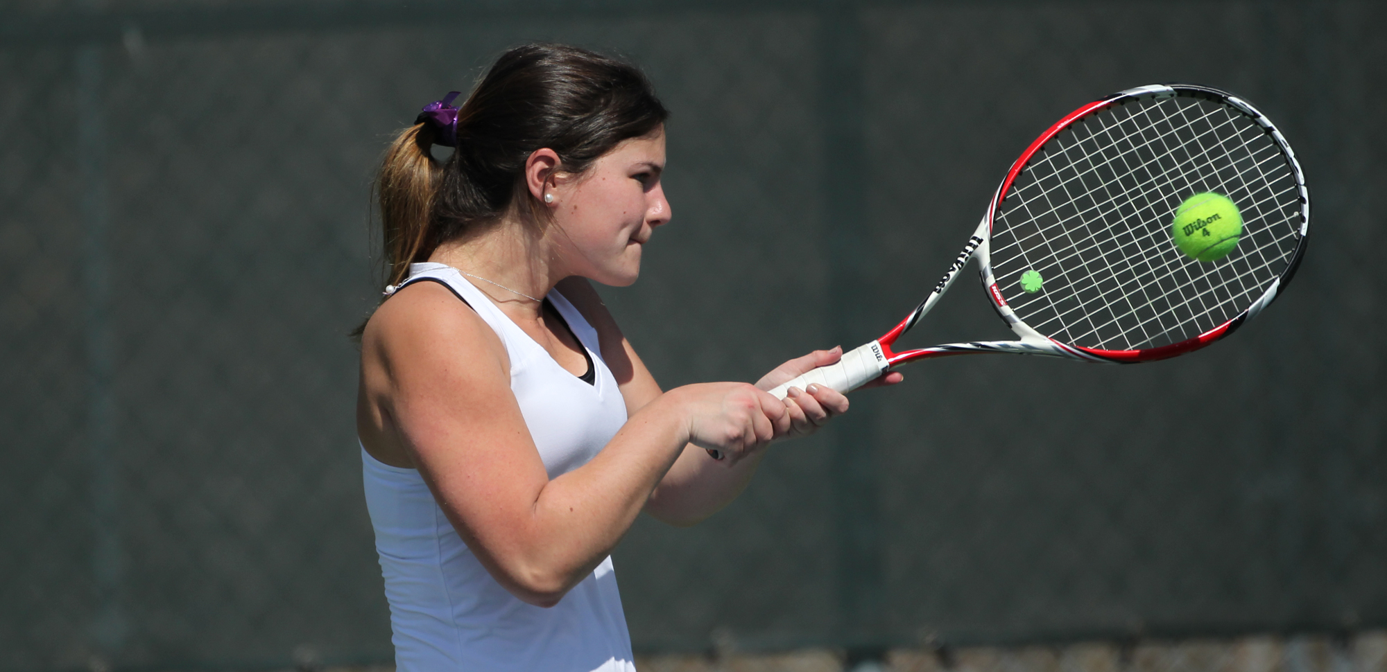 Sophomore Kristen Denniston was one of four Royals to win her draw on Saturday at the King's College Invitational.