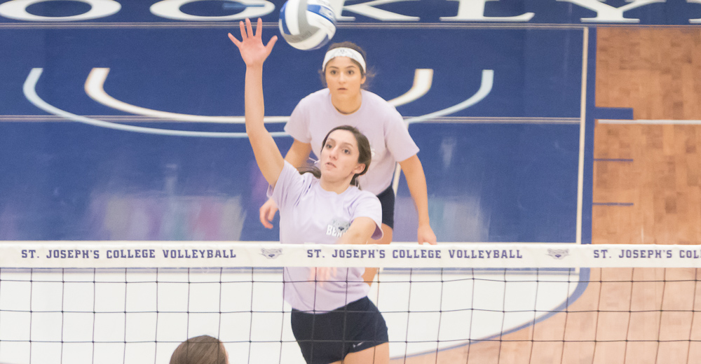Women's Volleyball Joins the Fight Against Cancer Battling John Jay