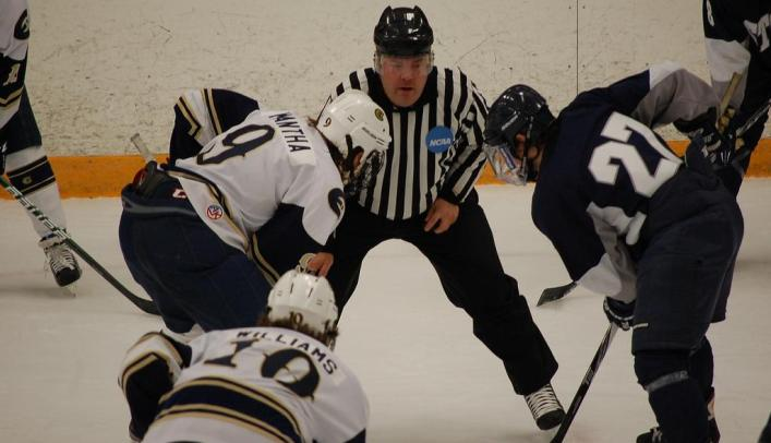 Blugolds Score Three in Second Period to Defeat Pointers