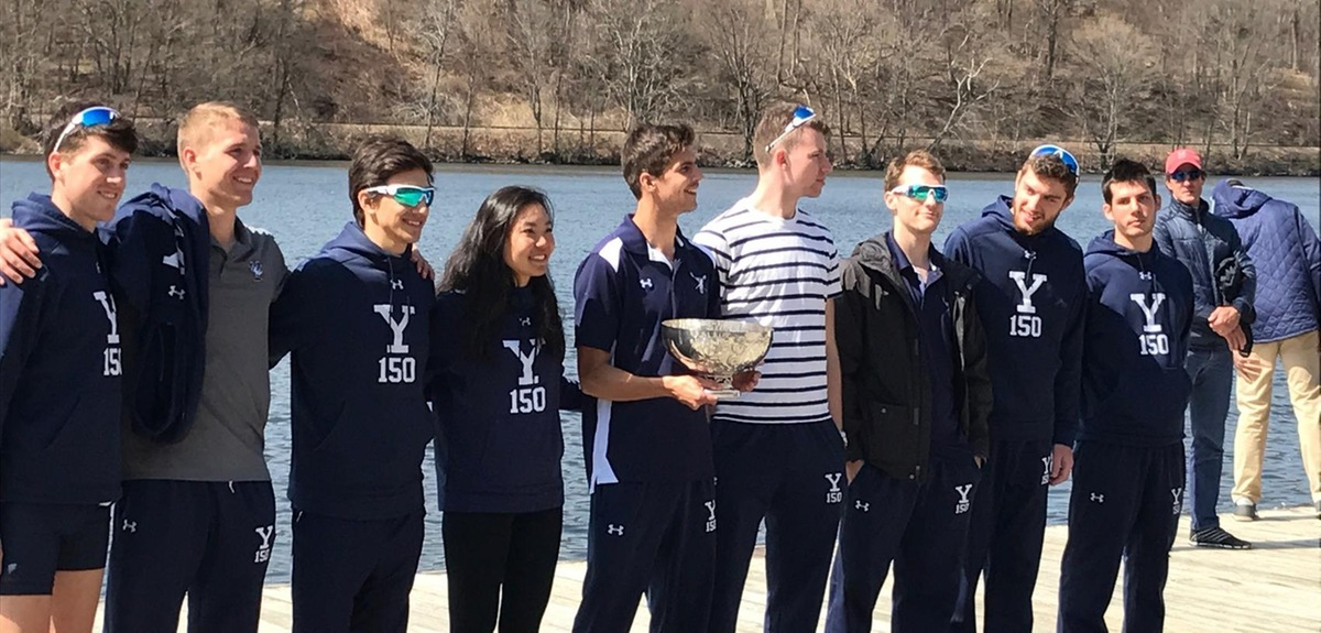 The Yale Varsity Eight with the Dodge Cup