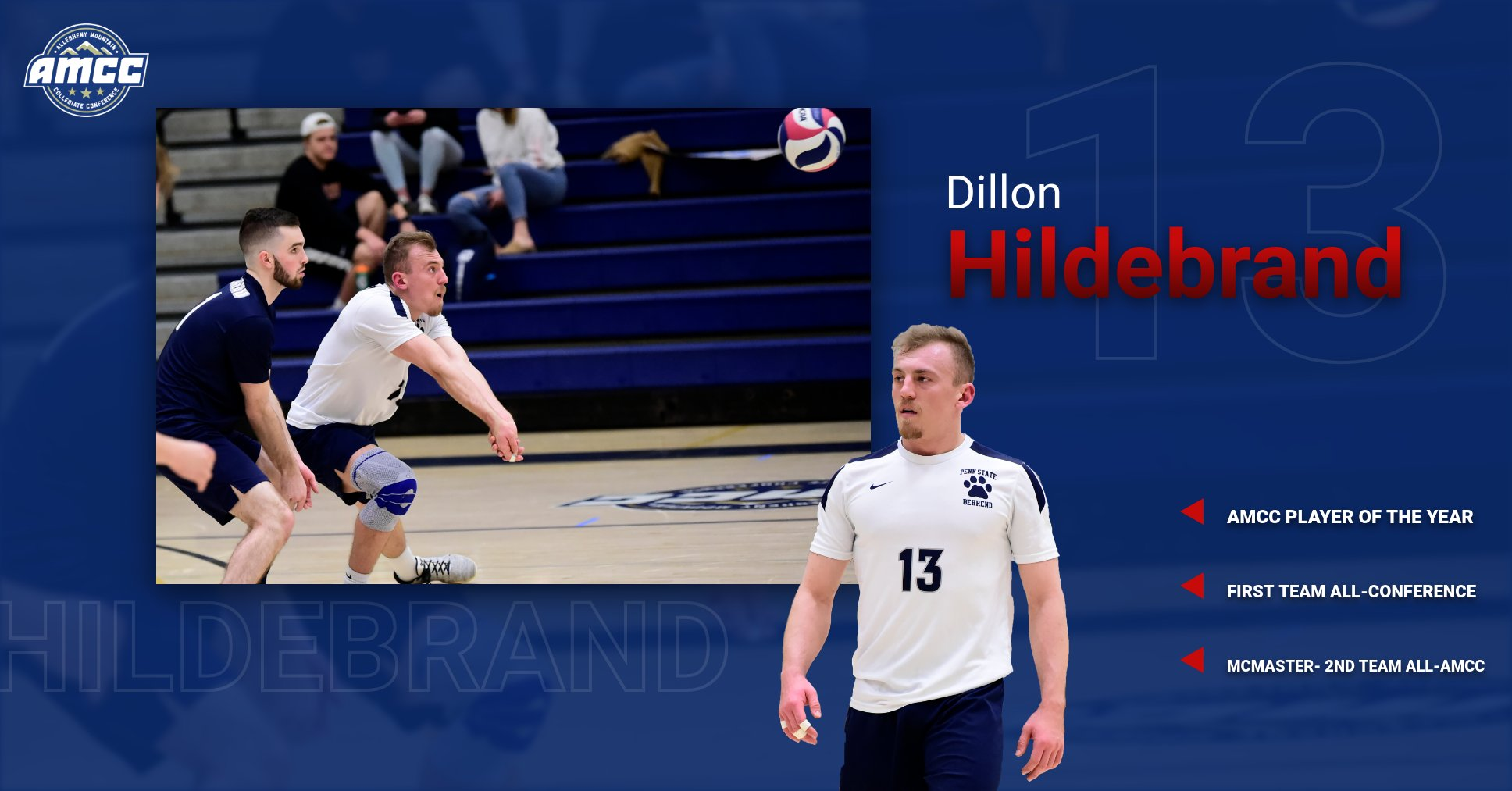 Hildebrand Named AMCC Player of the Year; McMaster Earns All-AMCC Honors