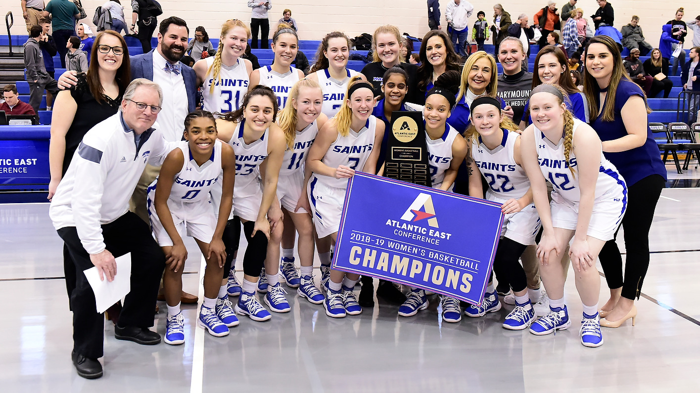 ATLANTIC EAST CHAMPIONS: Women's Basketball Holds Off Cabrini For First-Ever Atlantic East Title