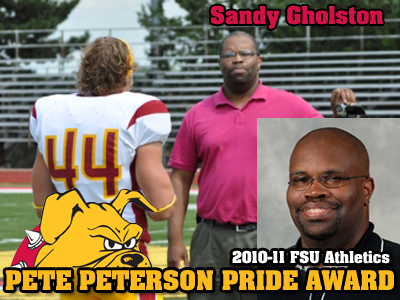 Sandy Gholston Receives Peterson Pride Award