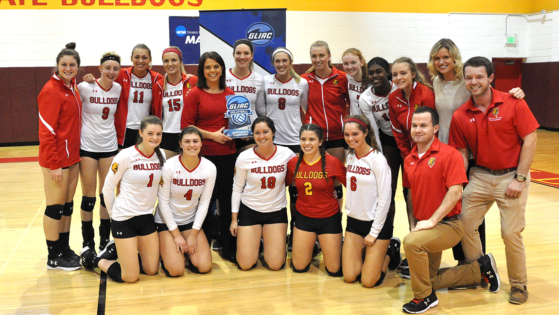 Bulldog Volleyball Advances To GLIAC Tournament Championship Match After Semifinal WIn