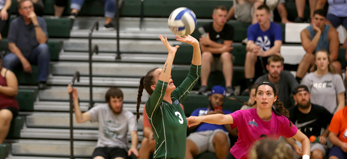 Volleyball team falls on opening night at Plattsburgh Tournament